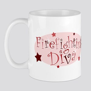 """Firefighting Diva"" [red] Mug"